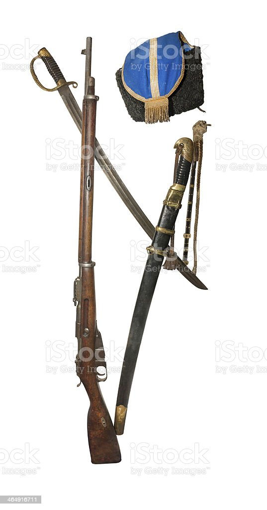 Equipment Cossack Don Army 19th century stock photo