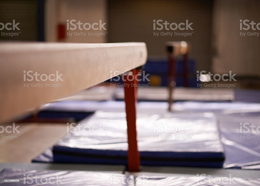 Equipment for a gymnastics enthusiast stock photo