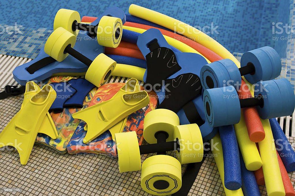 equipment for aqua aerobics royalty-free stock photo