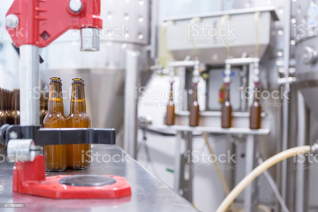 Equipment for beer elaboration stock photo