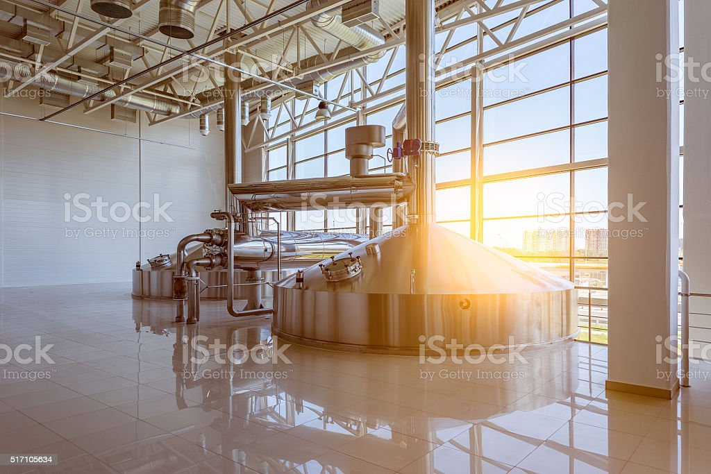 Equipment for brewing beer. stock photo