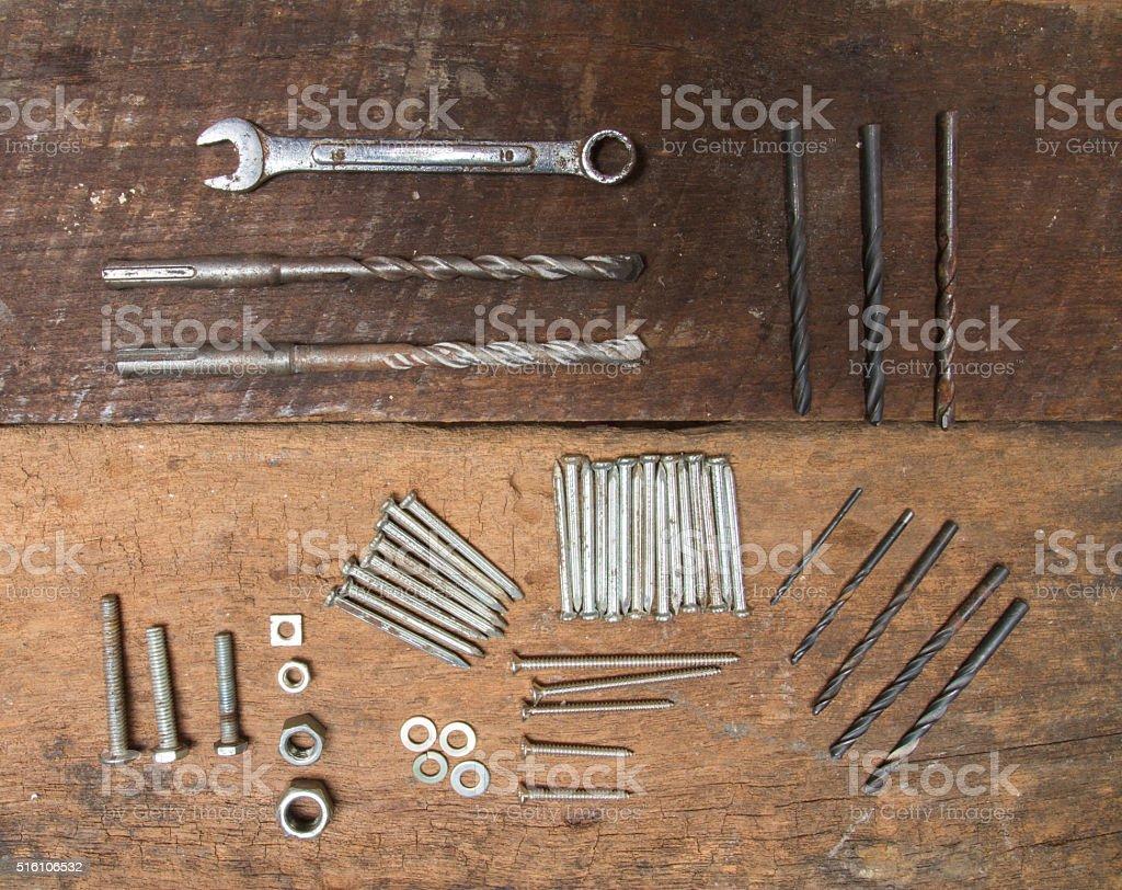 equipment for carpenter stock photo