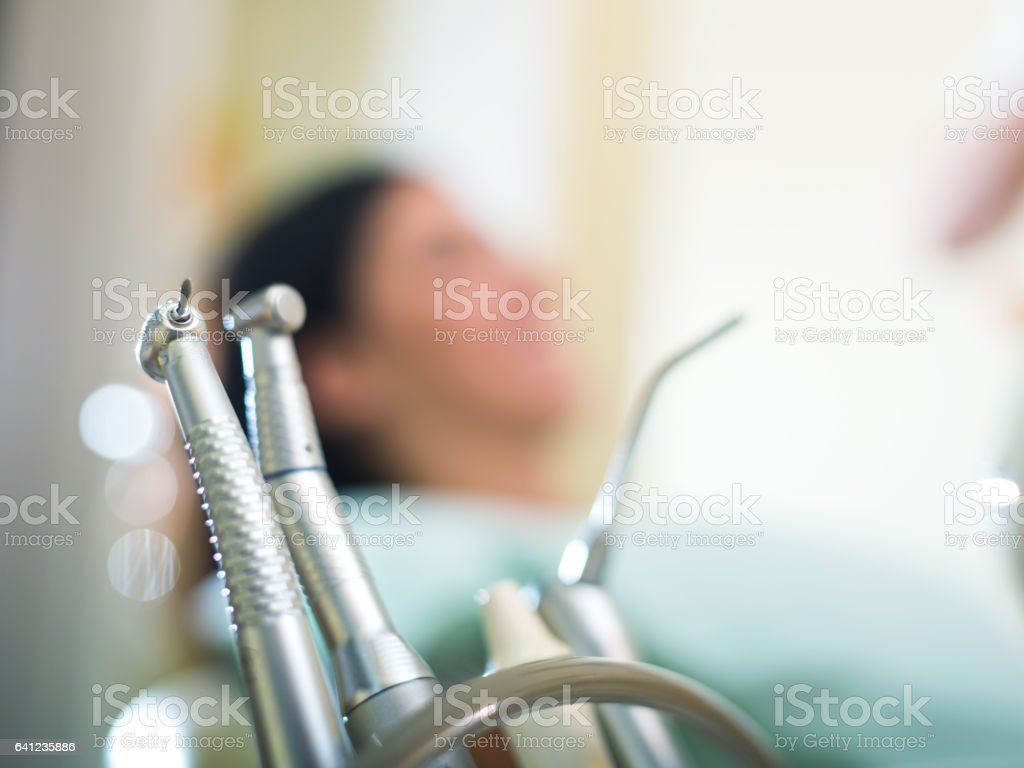 Equipment for dental care stock photo