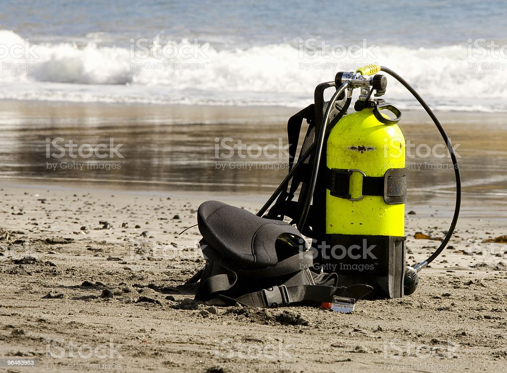 Equipment for diving stock photo