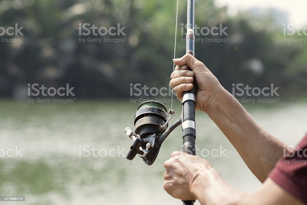 Equipment for fishing royalty-free stock photo