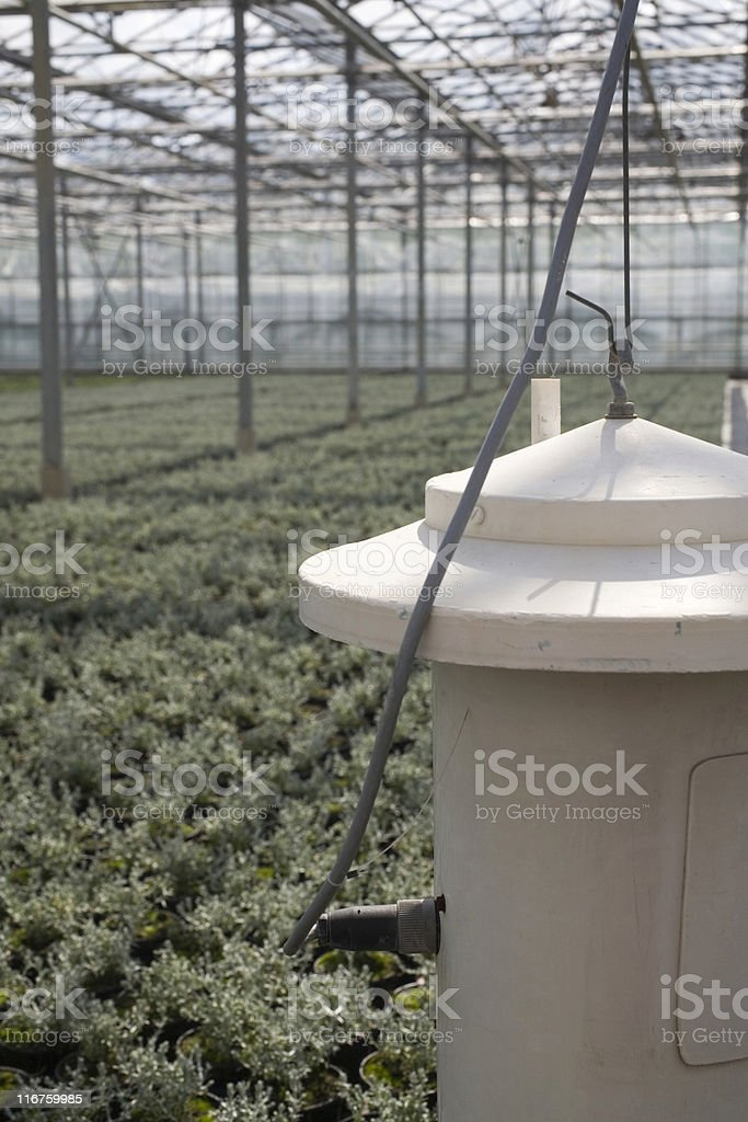 equipment for humidity control in a greenhouse stock photo