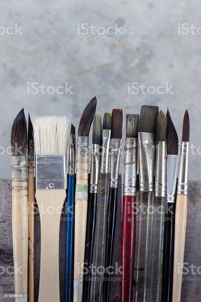 Equipment for painting and airbrush equipment - stock image stock photo