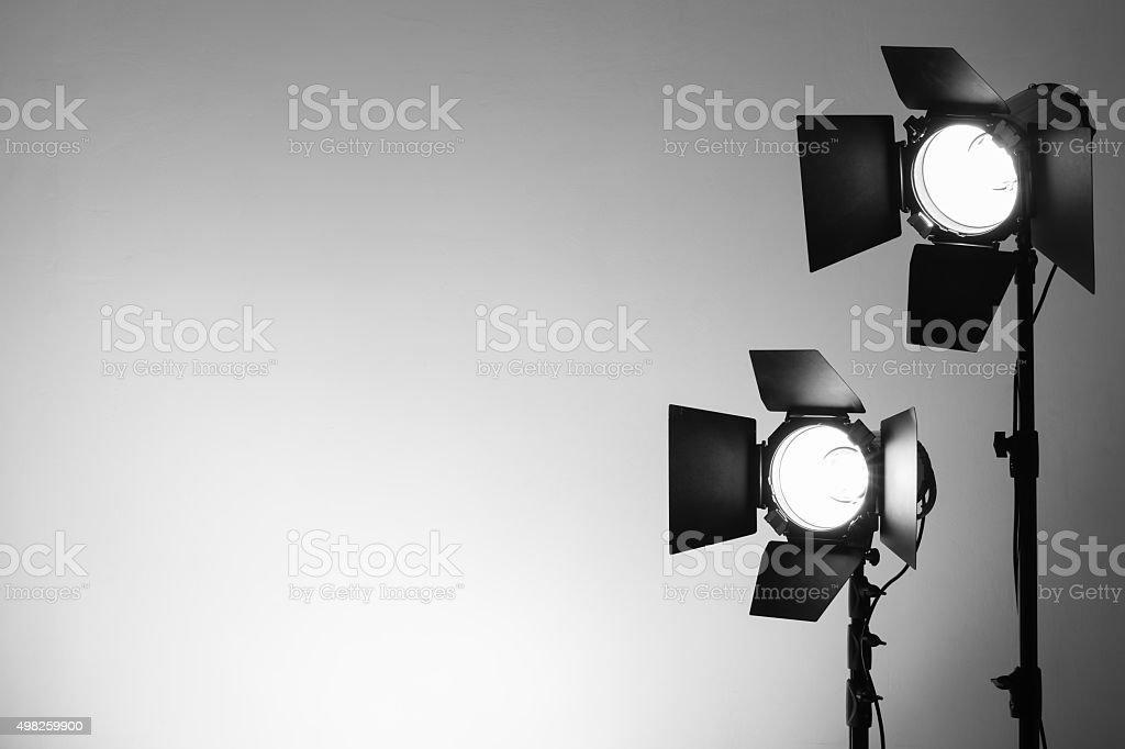 Equipment for photo studios and fashion photography stock photo