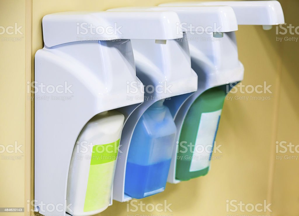 Equipment for skin cleaning and disinfection stock photo
