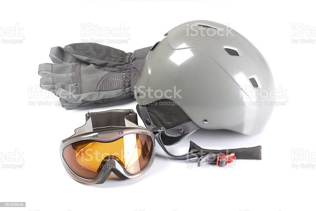 equipment for snowboarding stock photo