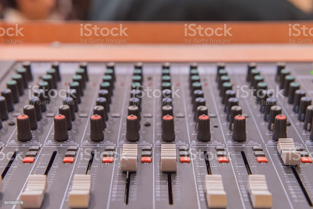 equipment for sound mixer control, electronic device stock photo