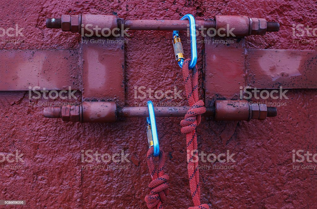 equipment for steeplejack works stock photo