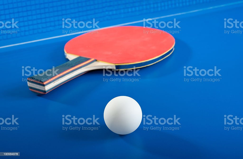 Equipment for table tennis royalty-free stock photo