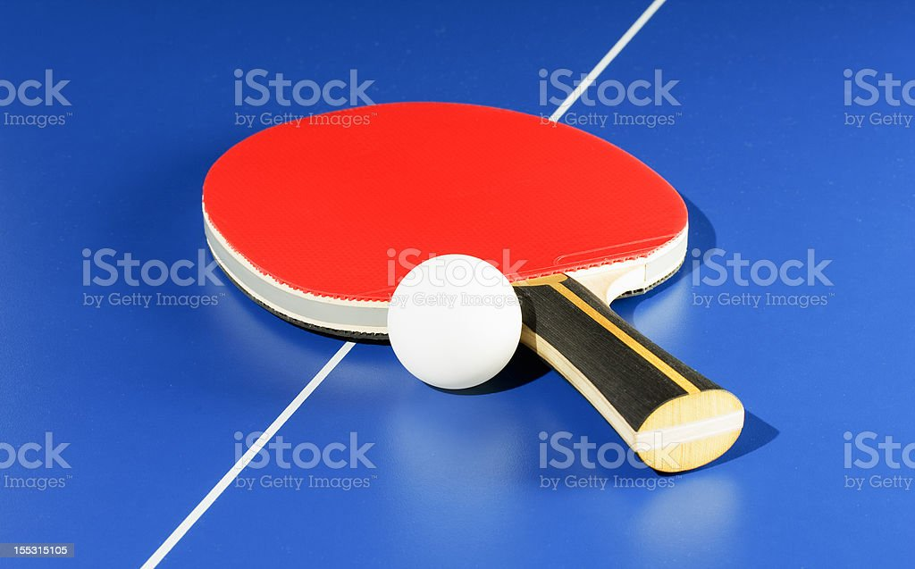 Equipment for table tennis stock photo
