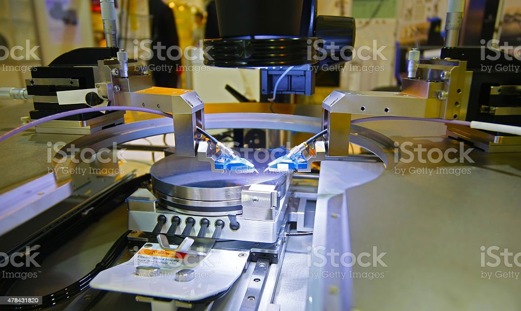 equipment for the control chip stock photo