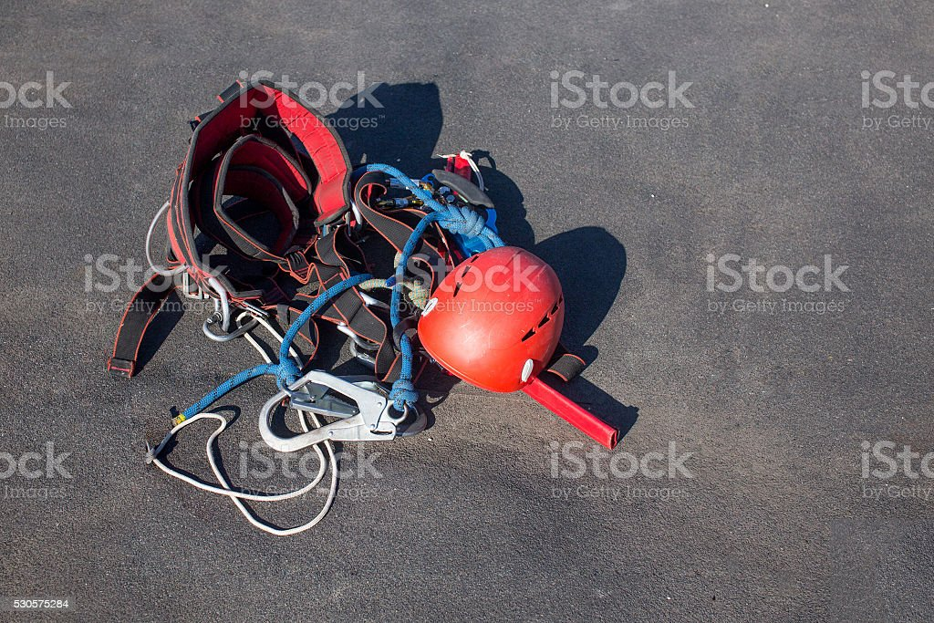 equipment for work at height stock photo