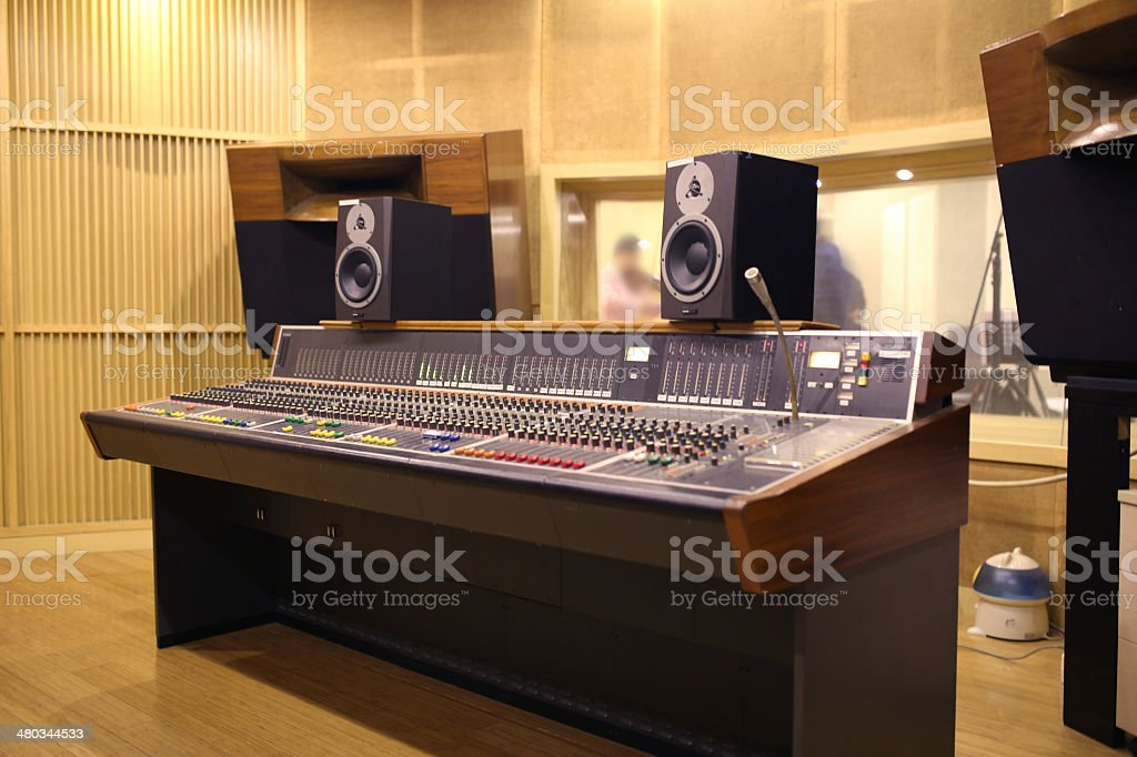 equipment in audio recording studio stock photo