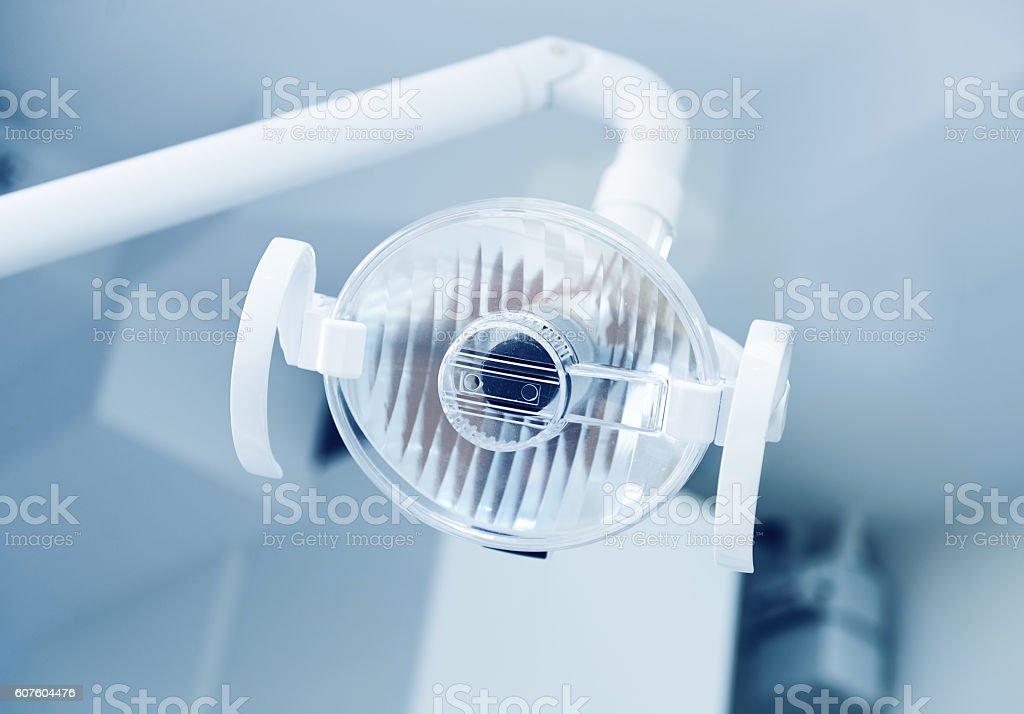 Equipment in dental clinic stock photo