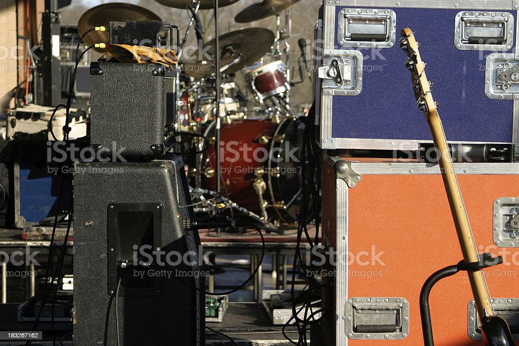 Equipment on stage stock photo