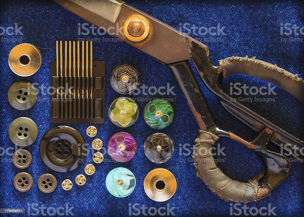 Equipment seamstress. stock photo