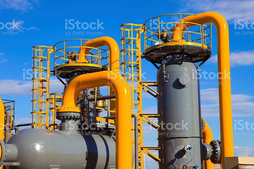 Equipment used in the petrochemical industry royalty-free stock photo