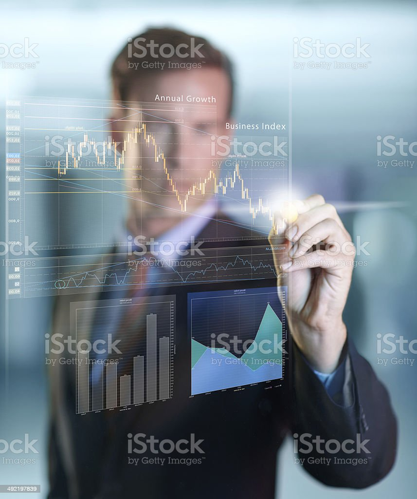 Equipped for success thanks to modern technology stock photo