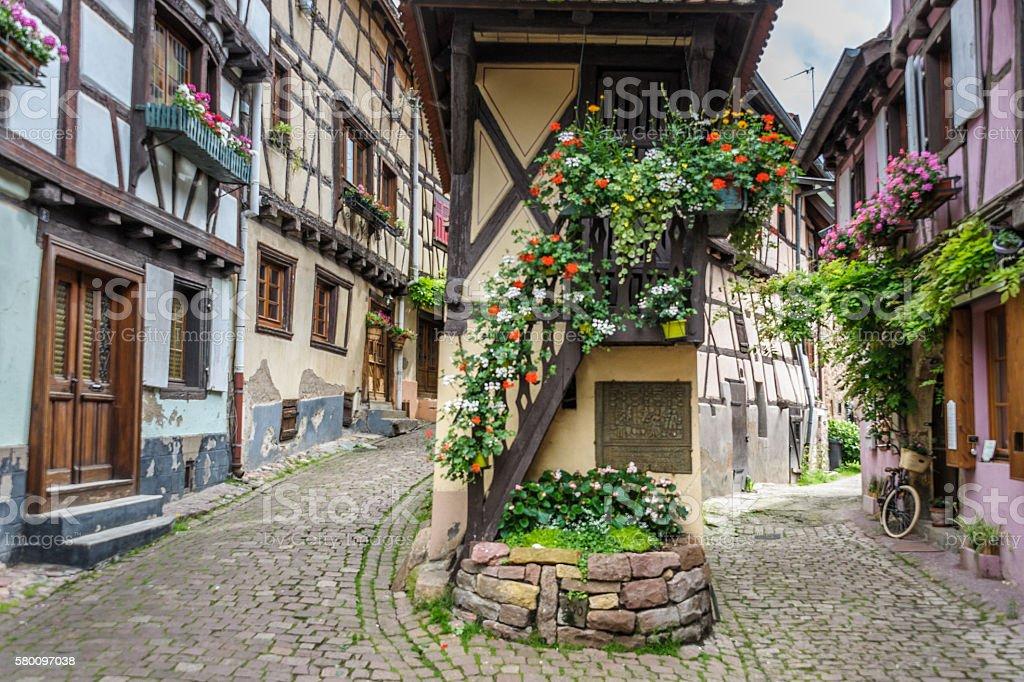 Equisheim, village in Alsace near Colmar stock photo