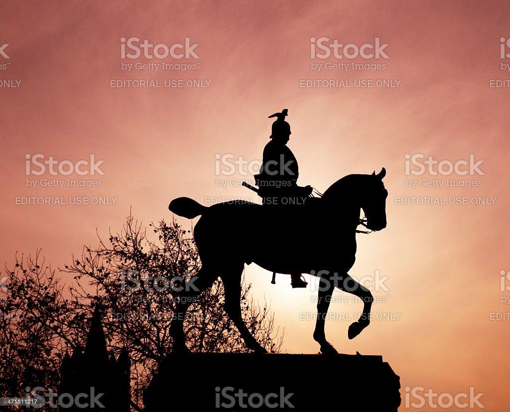 equistrian statue stock photo
