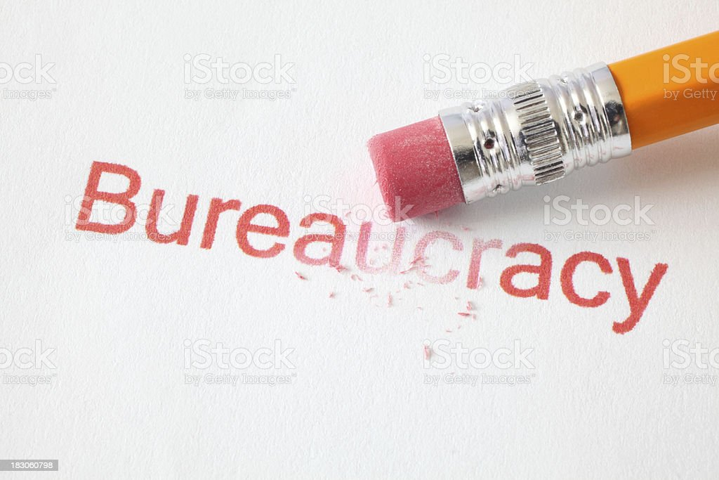 Erase Bureaucracy stock photo