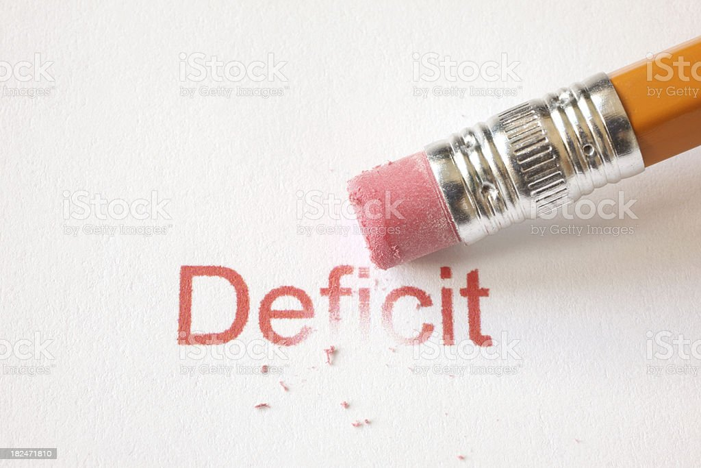 Erase Deficit stock photo