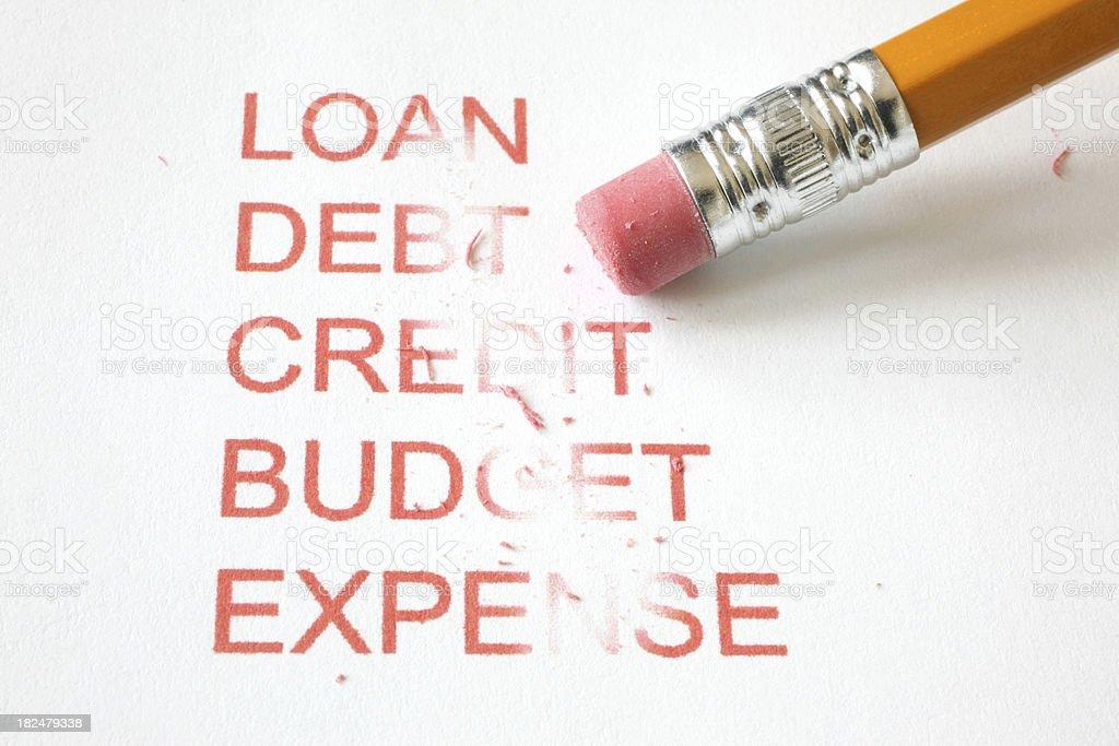 Erase Financial Problems royalty-free stock photo