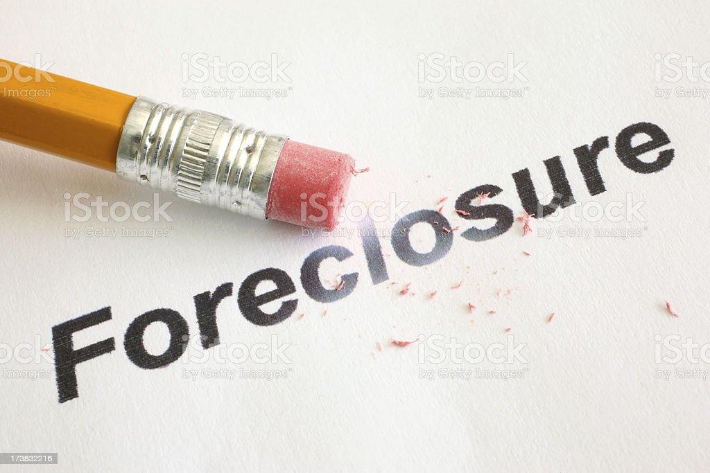 Erase Foreclosure royalty-free stock photo