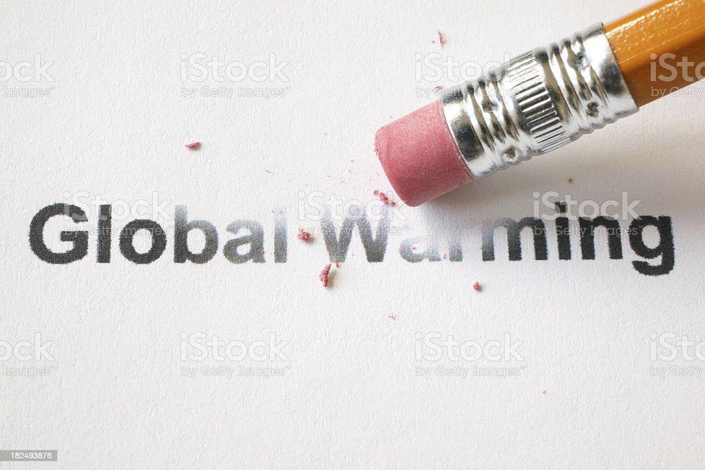 Erase Global Warming royalty-free stock photo