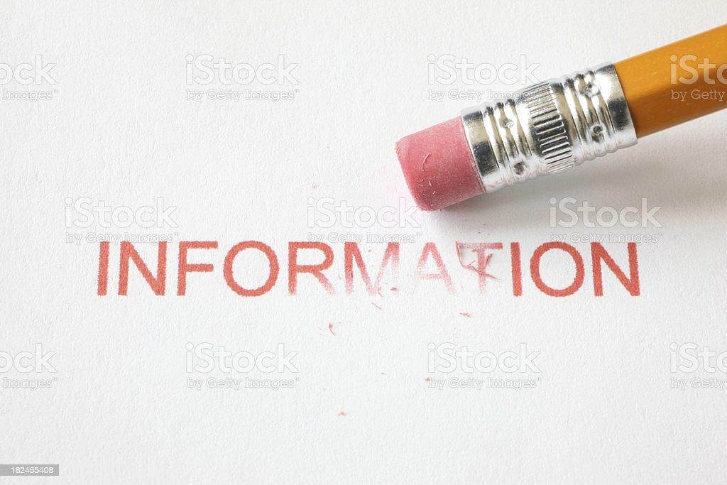Erase Information stock photo