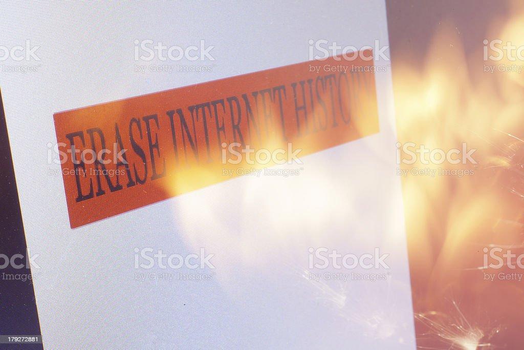Erase Internet History royalty-free stock photo
