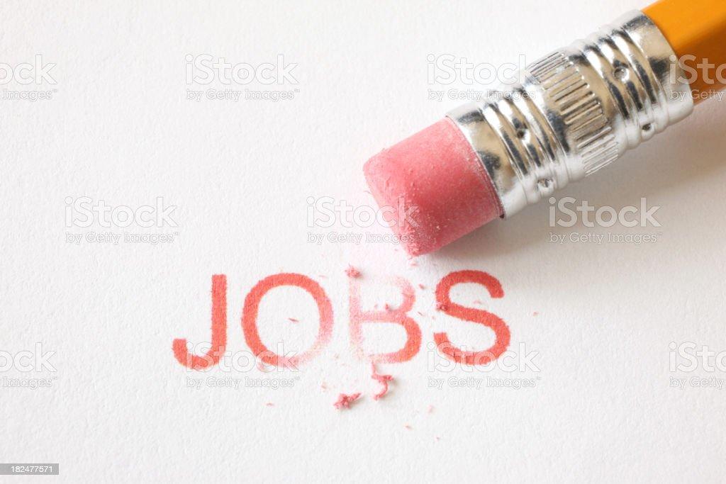 Erase Jobs royalty-free stock photo