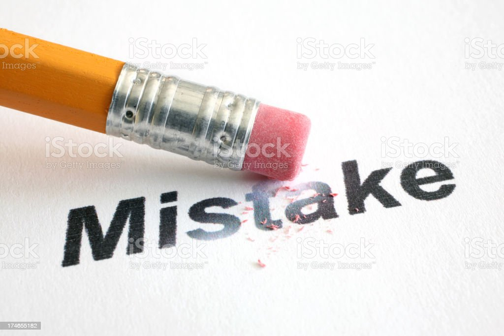 Erase Mistake royalty-free stock photo