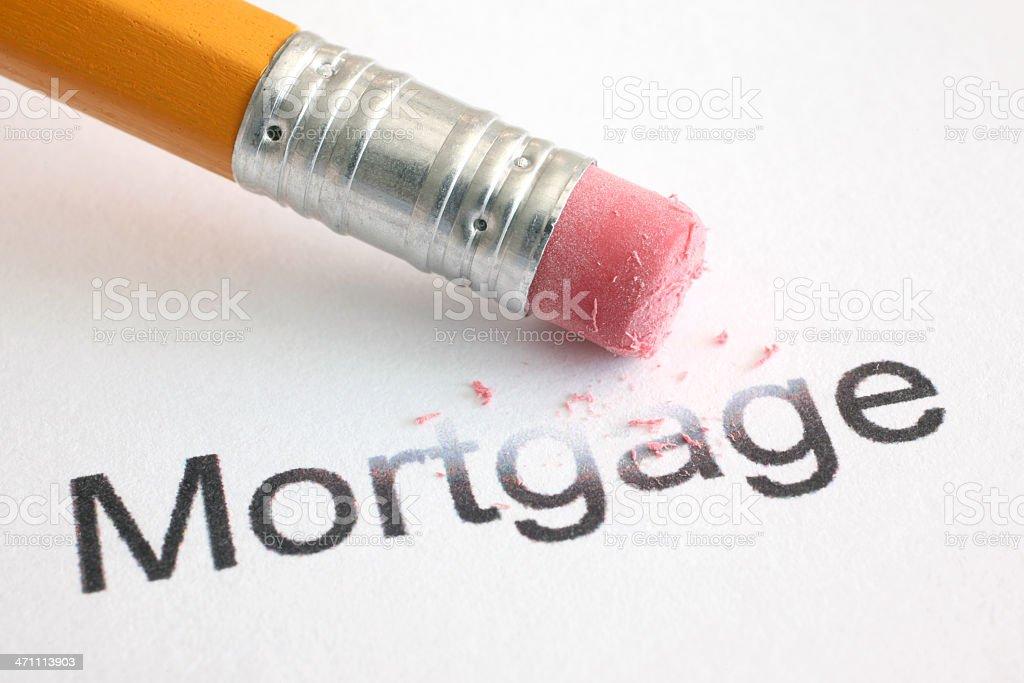 Erase Mortgage royalty-free stock photo