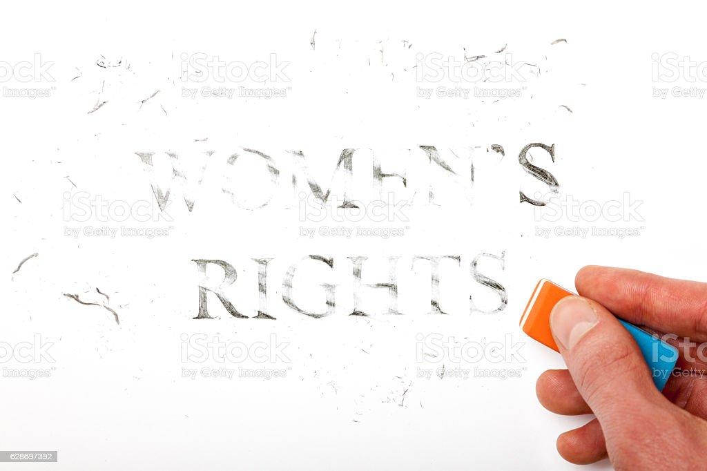 Erase Women's Rights stock photo
