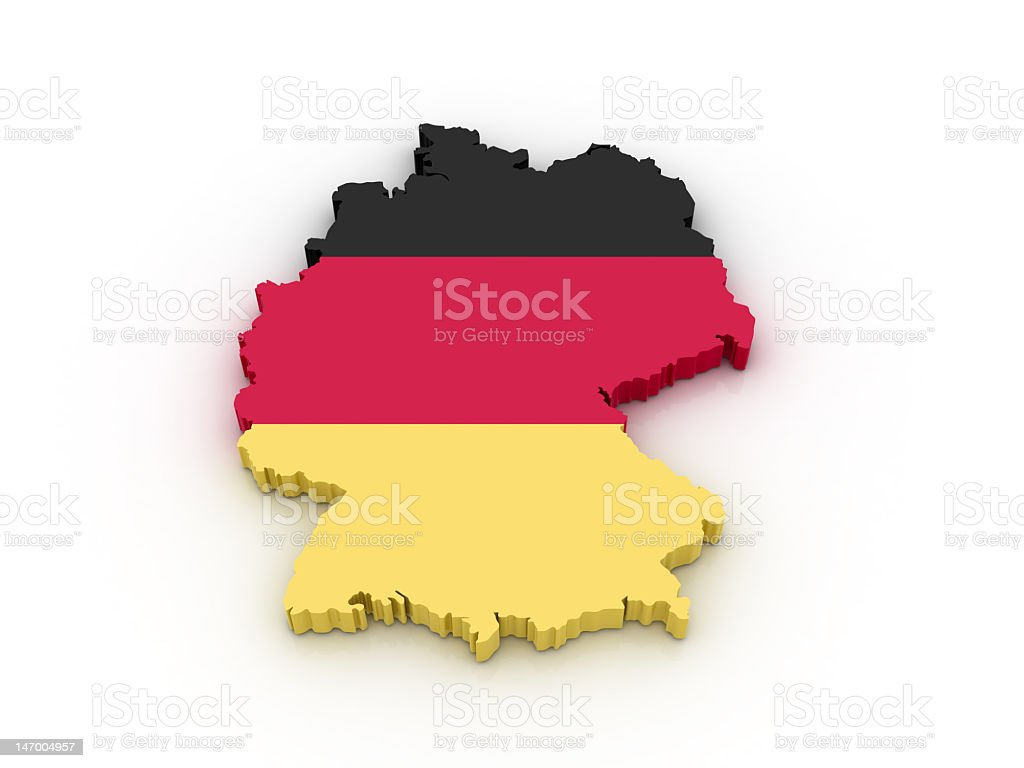 Eraser in the shape of Germany colored like its flag royalty-free stock photo