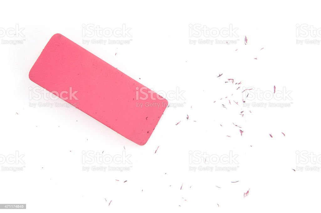 Eraser Isolated royalty-free stock photo