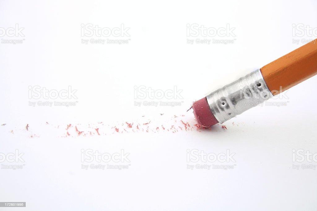 Eraser on a pencil stock photo