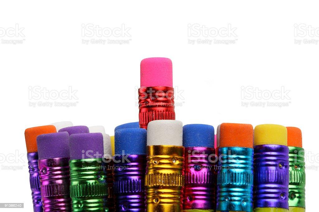 Eraser pencils. royalty-free stock photo