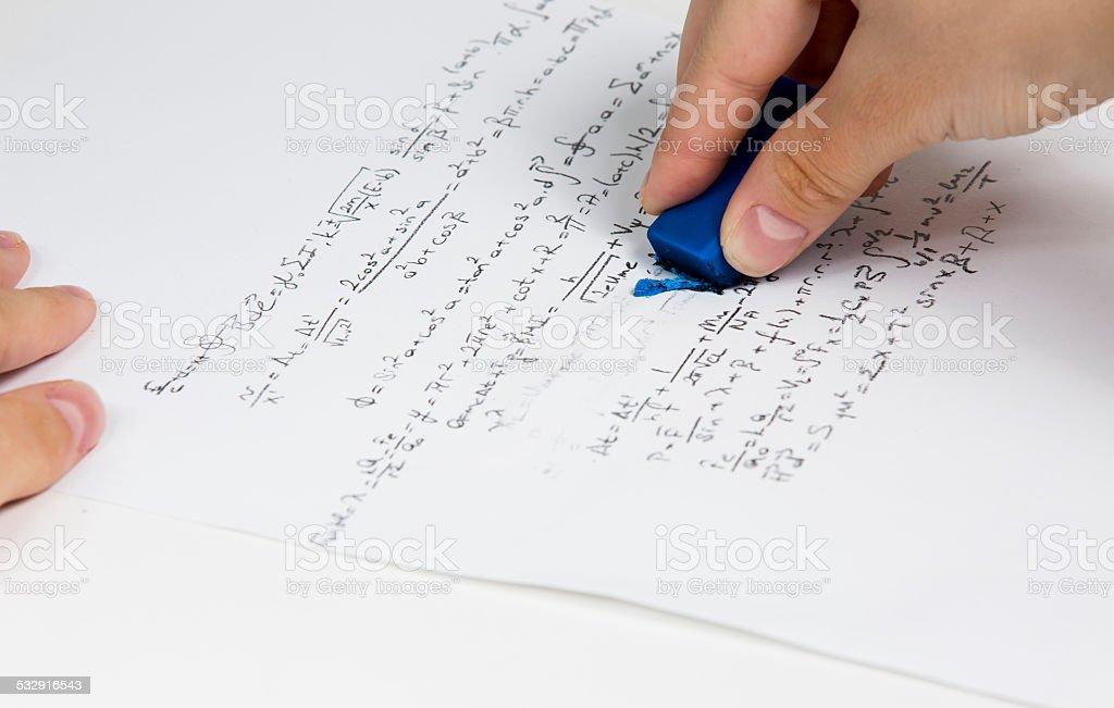 Erase eraser, blue, formula