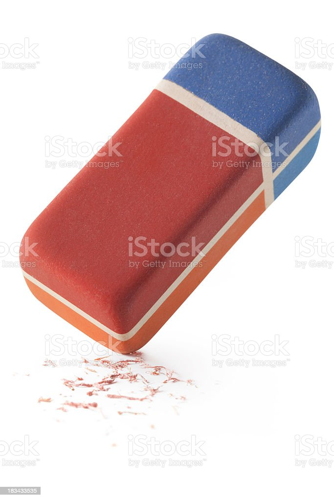 Eraser with residue stock photo