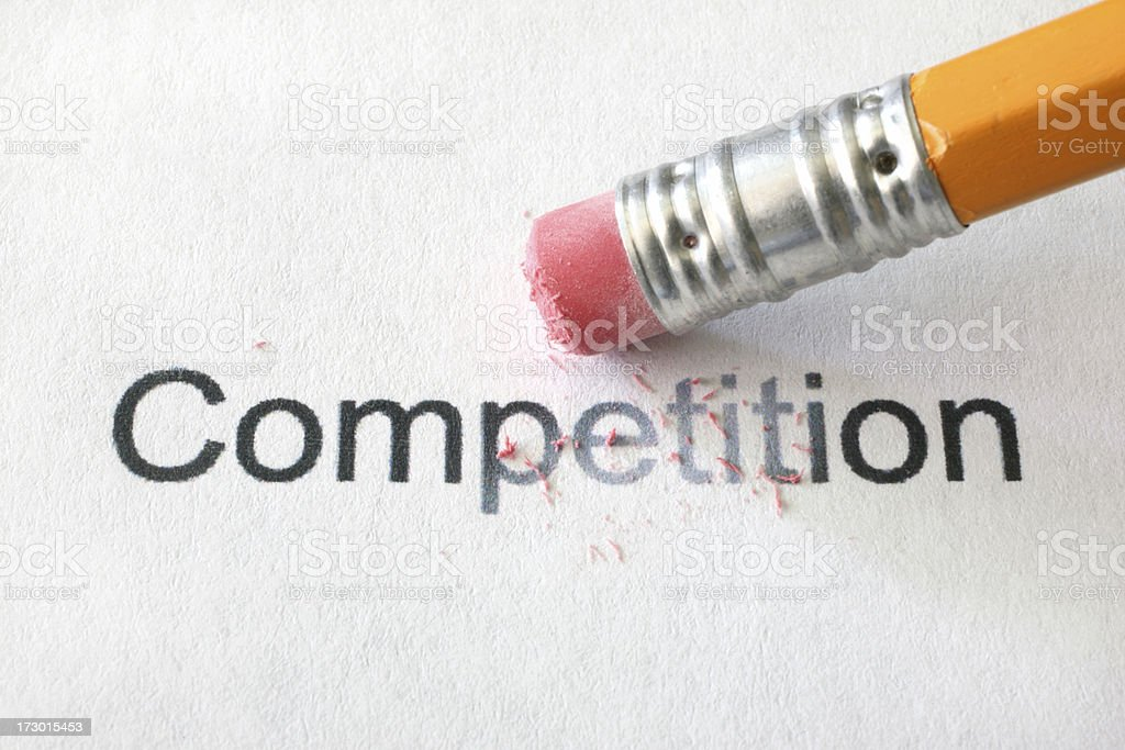 Erasing Competition royalty-free stock photo