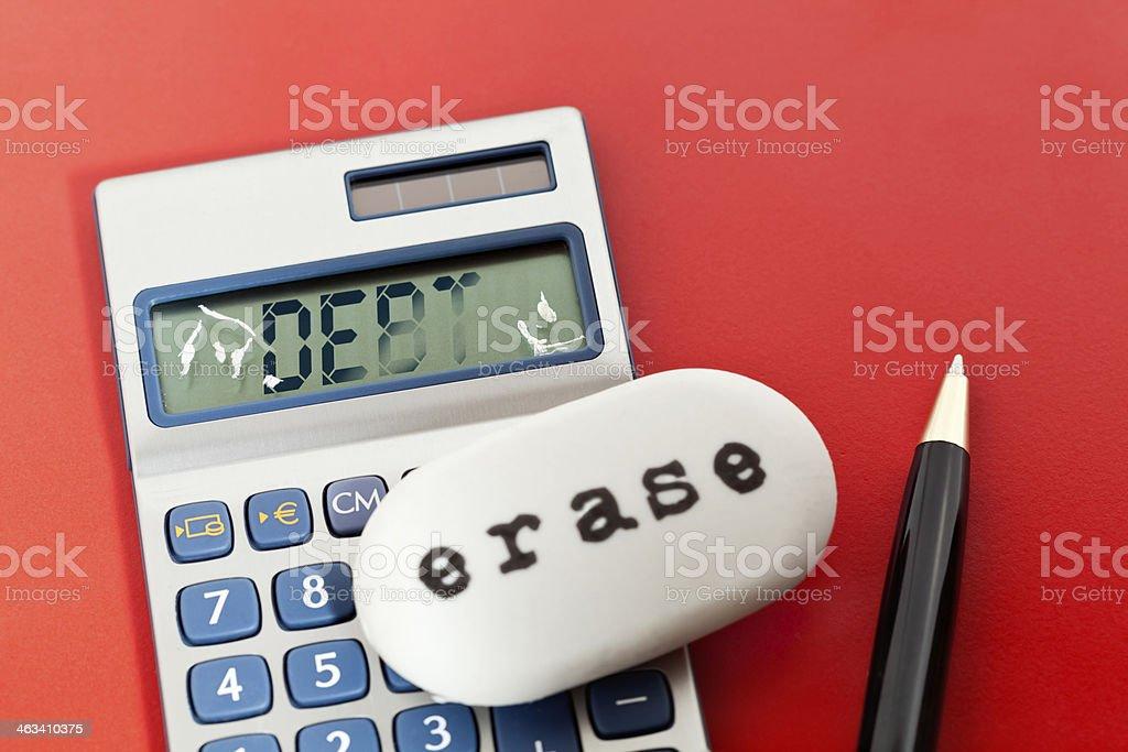 Erasing Debt royalty-free stock photo