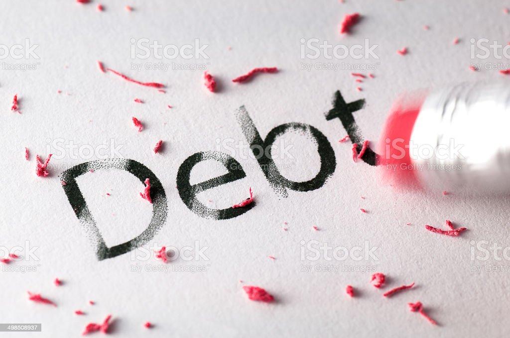 Erasing Debt stock photo