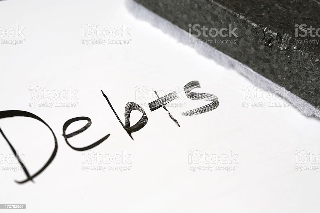 Erasing debts royalty-free stock photo