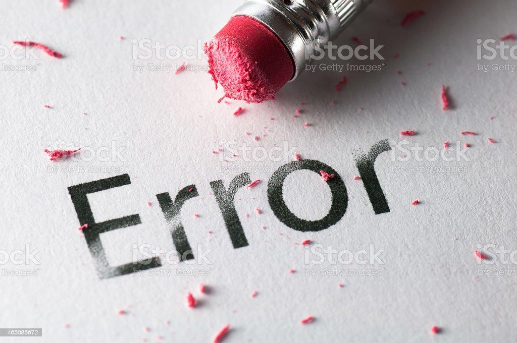 Erasing Error stock photo